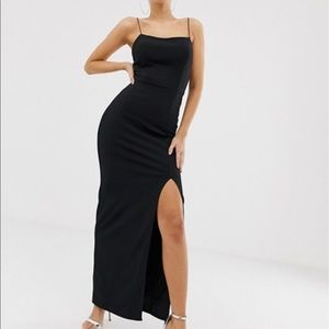 Club L London square neck midaxi dress